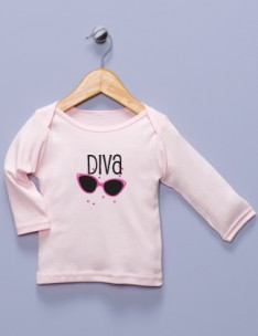 &quot;Diva&quot; Pink Long Sleeve Shirt