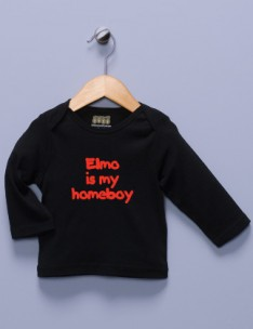 &quot;Elmo is my Homeboy&quot; Black Long Sleeve Shirt