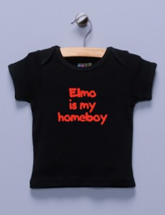 &quot;Elmo is My Homeboy&quot; Black Shirt 