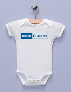 """Friends Like Me"" White Infant Bodysuit"