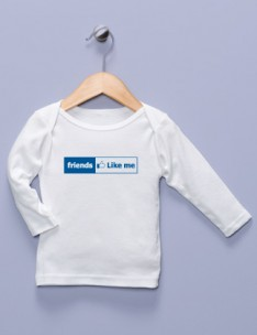 &quot;Friends Like Me&quot; White Long Sleeve Shirt