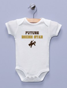 """Future Rodeo Star"" White Infant Bodysuit"