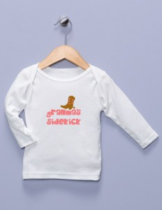 """Gramma's Sidekick"" White Long Sleeve Shirt"