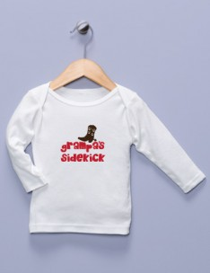 """Grampa's Sidekick"" White Long Sleeve Shirt"