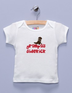 &quot;Grampa's Sidekick&quot; White Shirt