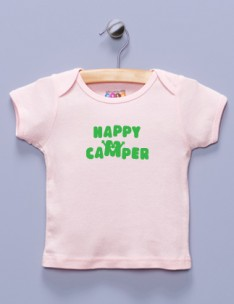 """Happy Camper"" Pink Shirt / T-Shirt"
