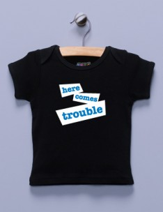 """Here Comes Trouble"" Black Shirt"