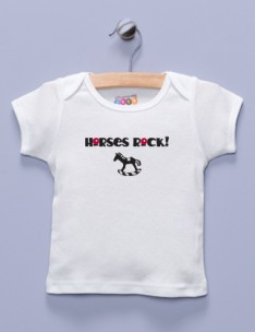 &quot;Horses Rock!&quot; White Shirt / T-Shirt