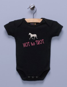 &quot;Hot to Trot&quot; Black Infant Bodysuit