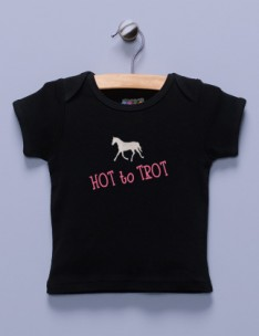 """Hot to Trot"" Black Shirt / T-Shirt"