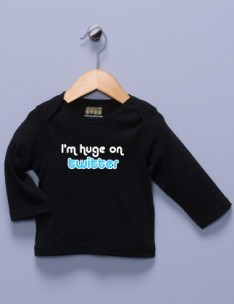 &quot;I'm Huge on Twitter&quot; Black Long Sleeve Shirt