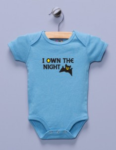 """I Own the Night"" Blue Infant Bodysuit"