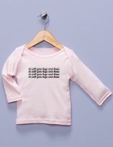 """I Will Give Hugs and Kisses"" Pink Long Sleeve Shirt"