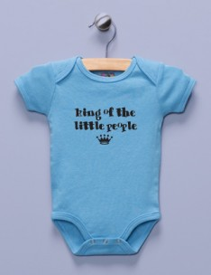 &quot;King of the Little People&quot; Blue Infant Bodysuit