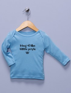 """King of the Little People"" Blue Long Sleeve Shirt"