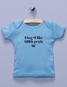 &quot;King of the Little People&quot; Blue Shirt
