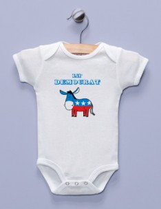 """Lil' Democrat"" White Infant Bodysuit"