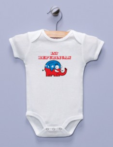 """Lil' Republican"" White Infant Bodysuit"