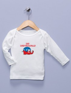 """Lil' Republican"" White Long Sleeve Shirt"
