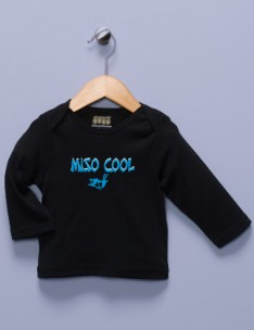 &quot;Miso Cool&quot; Black Long Sleeve Shirt