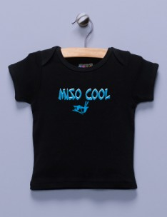&quot;Miso Cool&quot; Black Shirt