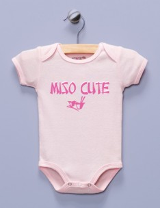 &quot;Miso Cute&quot; Pink Infant Bodysuit