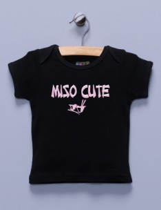 """Miso Cute"" Black Shirt / T-Shirt"