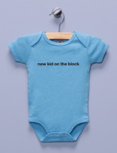 &quot;New Kid on the Block&quot; Blue Infant Bodysuit