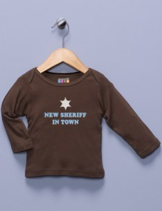 """New Sheriff in Town"" Brown Shirt"