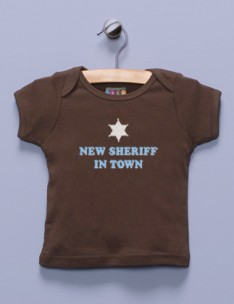 &quot;New Sheriff in Town&quot; Brown Shirt