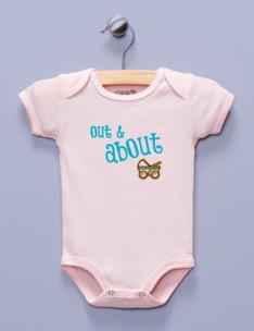 """Out & About"" Pink Infant Bodysuit"