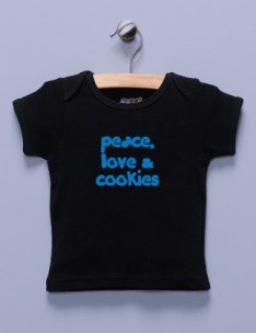 """Pease, Love & Cookies"" Black Shirt / T-Shirt"