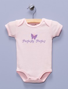 """Perfectly Perfect"" Pink Infant Bodysuit"