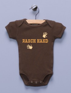 &quot;Ranch Hand&quot; Brown Infant Bodysuit