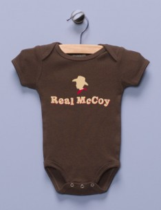 &quot;Real McCoy&quot; Brown Infant Bodysuit