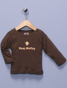 """Real McCoy"" Brown Long Sleeve Shirt"
