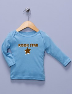 &quot;Rock Star&quot; Blue Long Sleeve Shirt