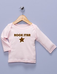 """Rock Star"" Pink Long Sleeve Shirt"