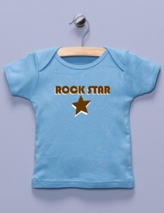 &quot;Rock Star&quot; Blue Shirt