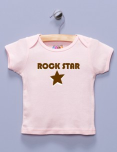 """Rock Star"" Pink Shirt / T-Shirt"