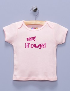 """Sassy lil' Cowgirl"" Pink Shirt / T-Shirt"