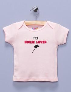 """""""Stick Horse Lover"""" Pink Shirt / T-Shirt"""