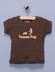 &quot;Tractor Pull&quot; Brown Shirt