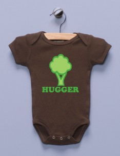 &quot;Tree Hugger&quot; Brown Infant Bodysuit