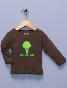&quot;Tree Hugger&quot; Brown Long Sleeve Shirt