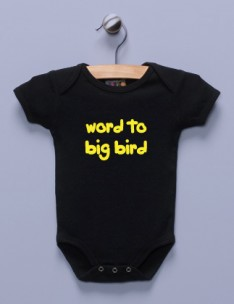 """Word to Big Bird"" Black Infant Bodysuit"
