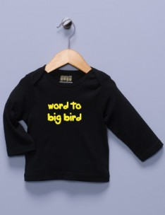 """Word to Big Bird"" Black Long Sleeve Shirt"