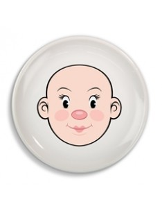 Plate - MS FOOD FACE Plate